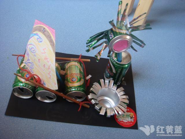 幼儿园易拉罐废物利用手工制作大全图解