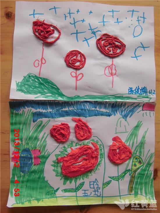 幼儿园玫瑰花手工制作过程
