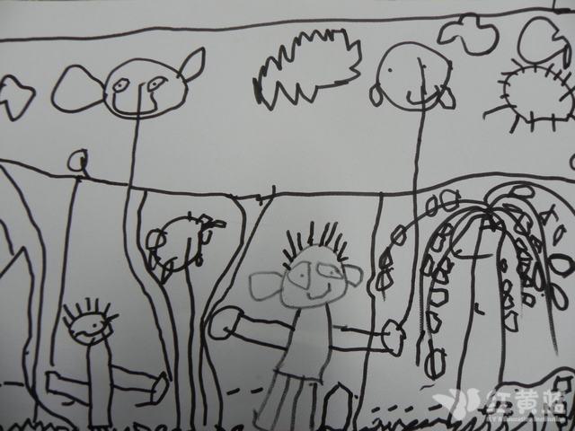 踏青主题的幼儿园手绘宣传海报