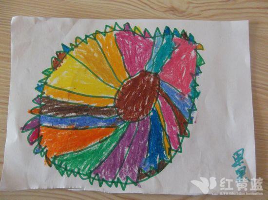 幼儿作品画月饼