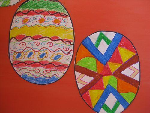 儿童手绘彩蛋图片