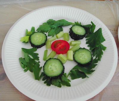 儿童蔬菜拼盘图片