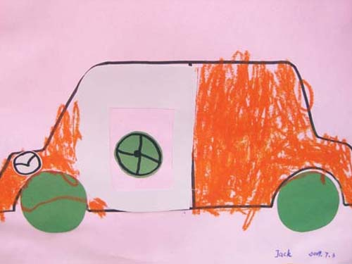 粘贴画——小汽车