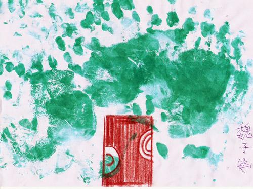手掌画-大树