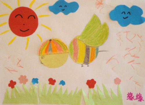 蜜蜂采 图片儿童画