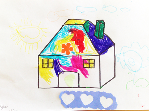 添画——漂亮的小房子