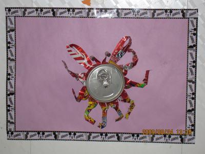 作品名称:易拉罐制作——大螃蟹