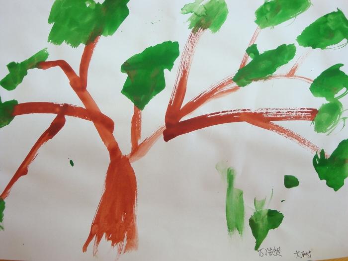 简单手指印画图片大树分享展示图片