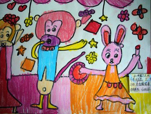 美术班幼儿 作品图片