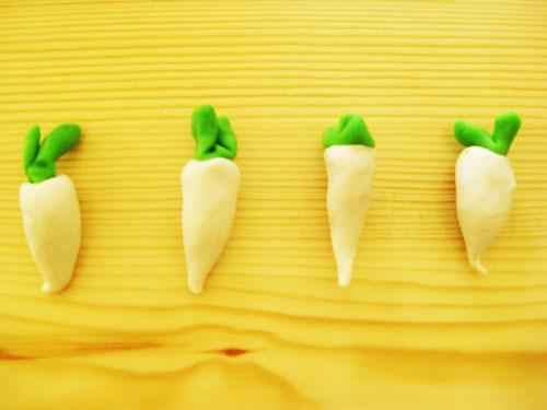 面塑——白萝卜图片