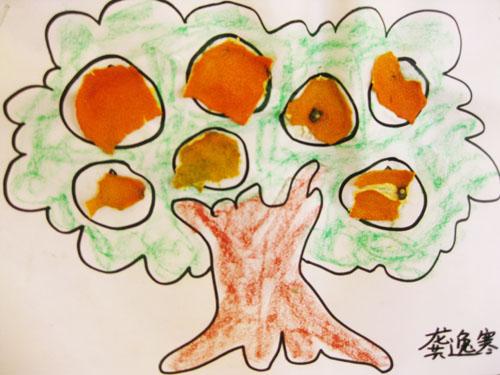 创意手工——橘皮贴画