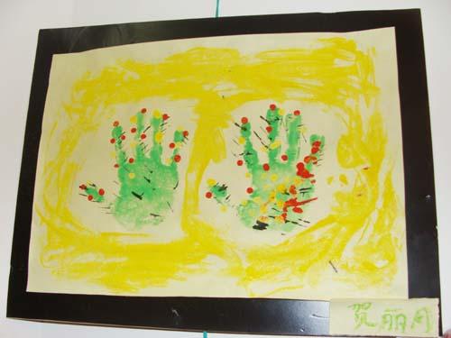 创意手印画 _ 红黄蓝|早教|早教中心图片