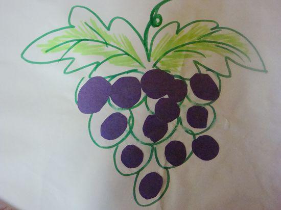 托班贴画:紫葡萄