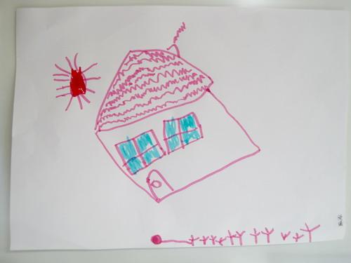 中班水笔画 我的家