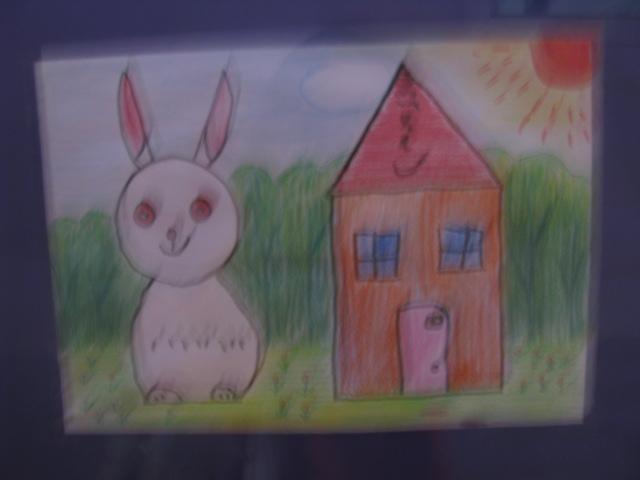 小白兔表情包绘画图片