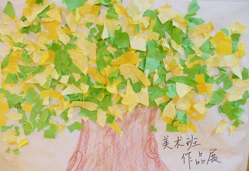 创意绘画——大树 _ 红黄蓝|早教|早教中心