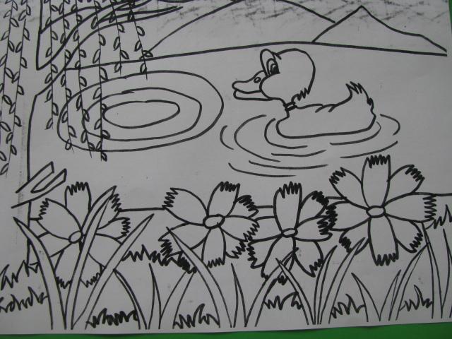 小鸭子头饰手工制作 简笔画