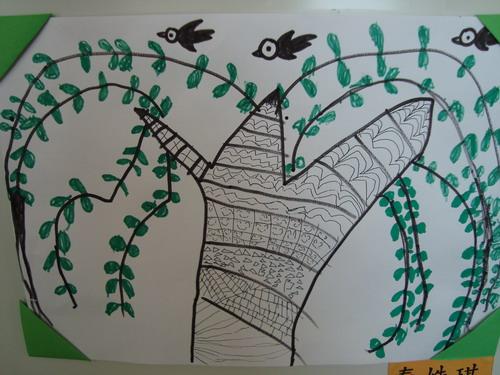 柳树和燕子是好朋友图片
