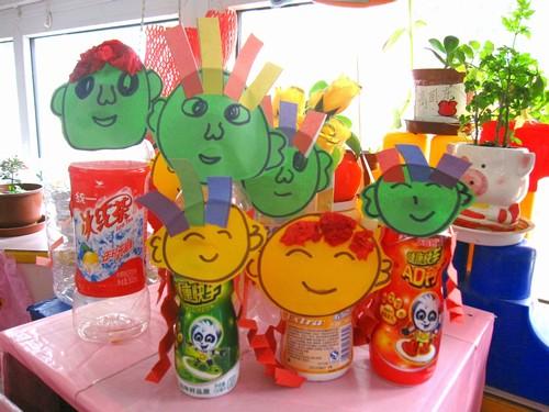 幼儿园装饰瓶子制作