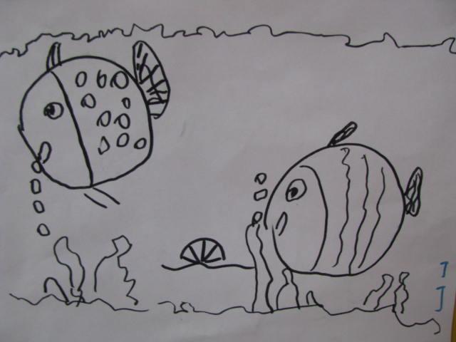 简笔画——快乐的小鱼
