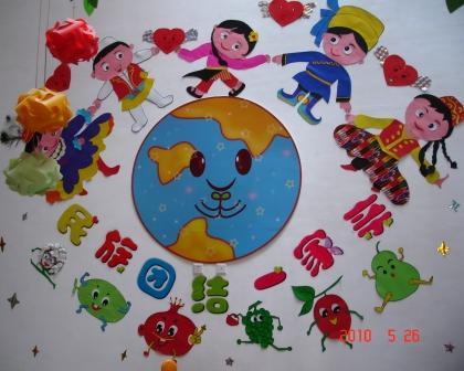 幼儿简笔画民族团结