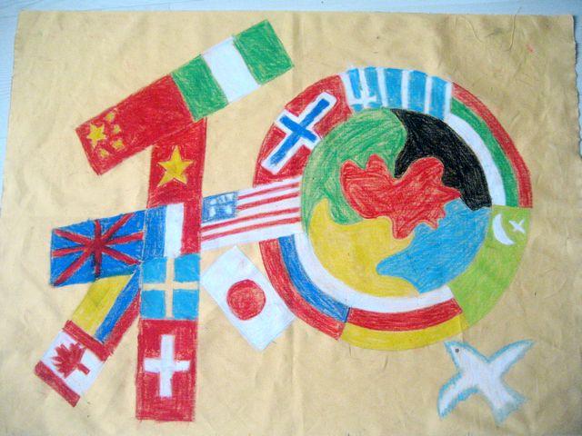 意画 之字母 想象画 创意想象画 维护和平-小学生画的和平画 小学生