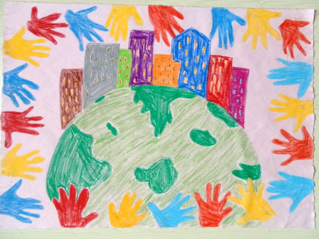 幼儿创意美术线条画 儿童创意想象画 幼儿美术作品创意画
