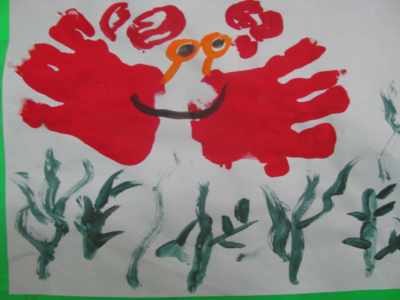 手掌画——海底世界