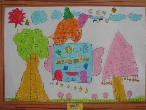 思维绘画——冰淇淋房子图片