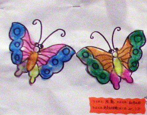 幼儿蝴蝶画+; 儿童画蝴蝶图片图片