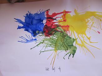 幼儿吹画作品图片