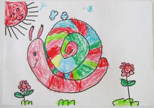 幼儿园蜗牛简笔画 蜗牛简笔画步骤 蜗牛简笔画大全