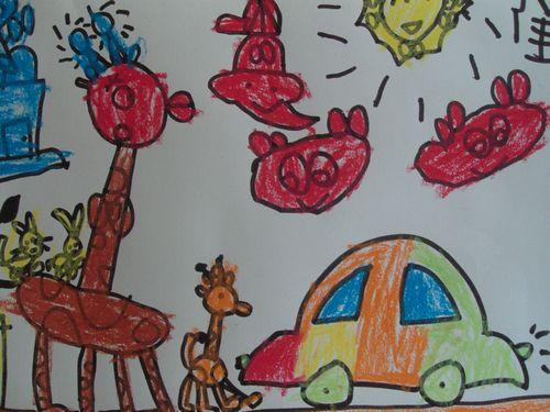 朋友开着车在大森林里和小动物们一起赛跑!-热闹的大森林