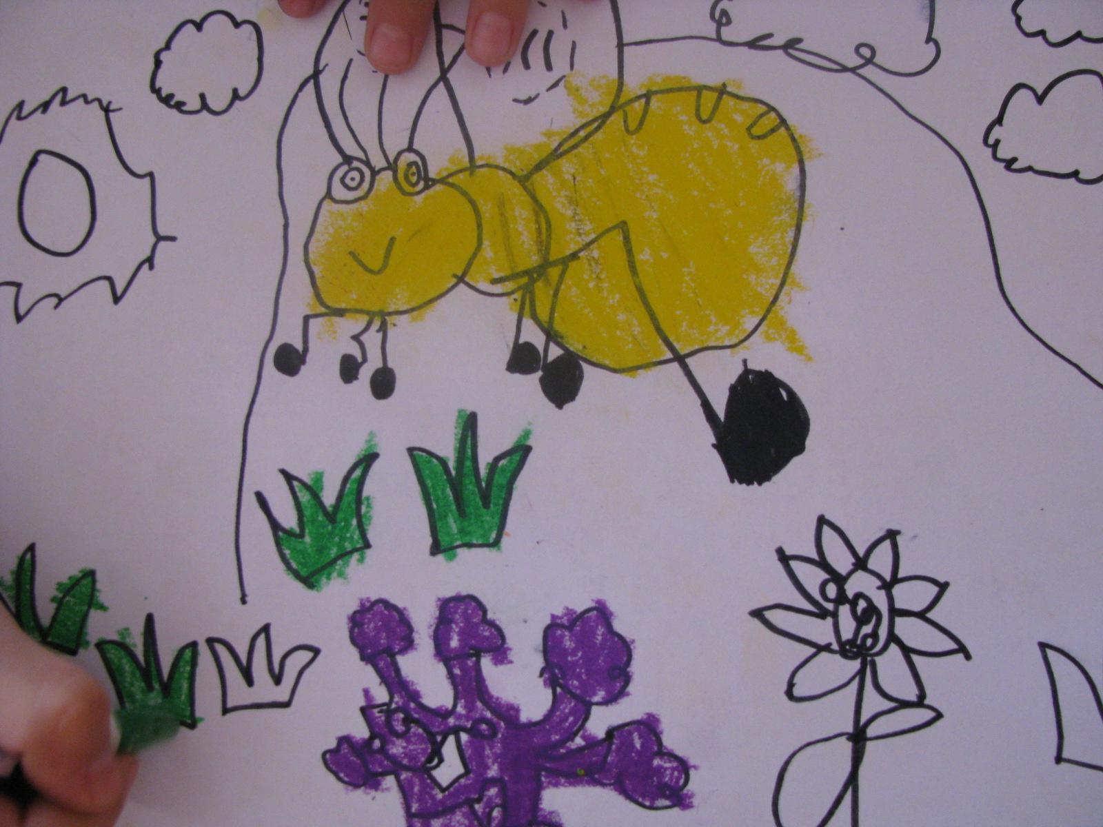我要找到花儿去采蜜 简笔画 可爱的蜜蜂