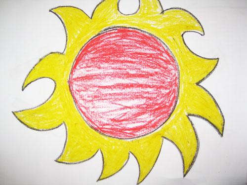 可爱的太阳 _ 红黄蓝|早教|早教中心