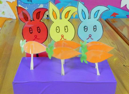 幼儿园手工制作大全兔子抱萝卜