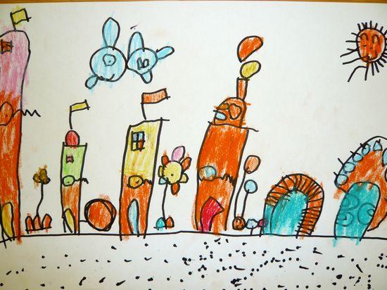 儿童画童话城堡图片4;