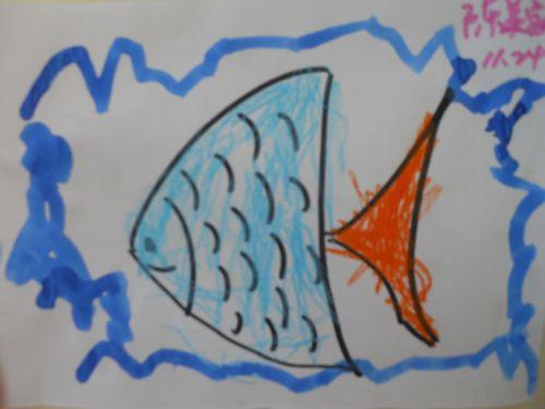 幼儿画金鱼的步骤