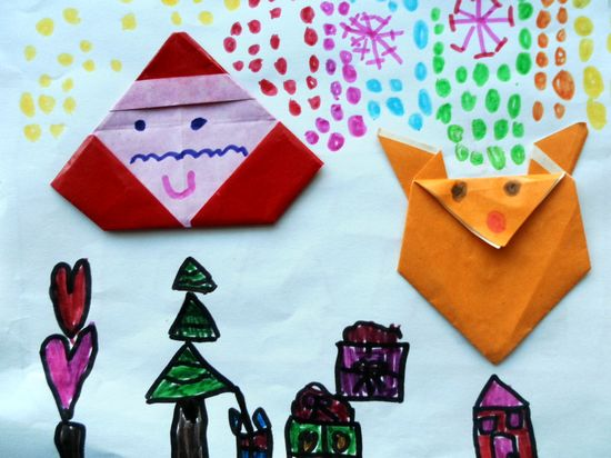 折纸圣诞老人