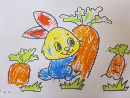 胡萝卜园简笔画