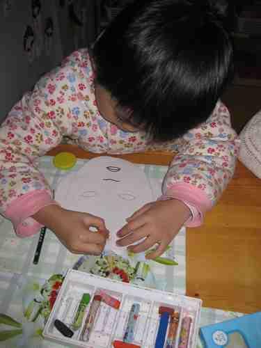 脸谱刮画图片,儿童脸谱画作品图片