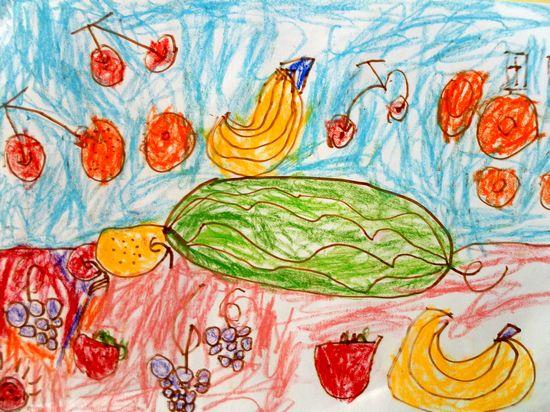 优秀儿童水果画
