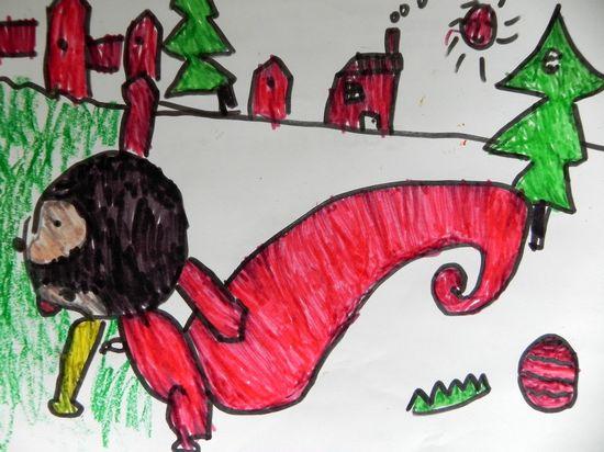可爱小松鼠图画