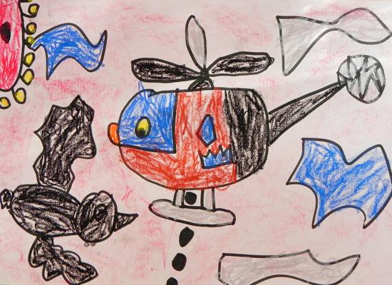 幼儿园飞机画画图片