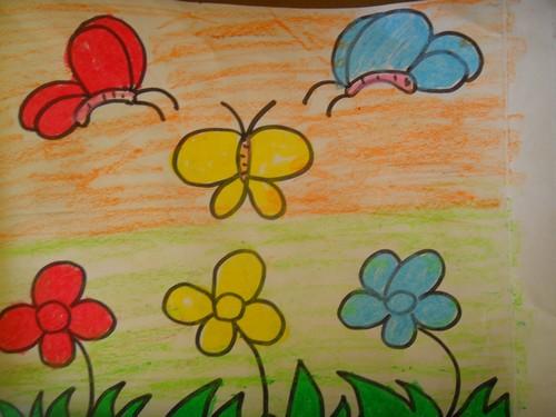 幼儿园儿童画蝴蝶