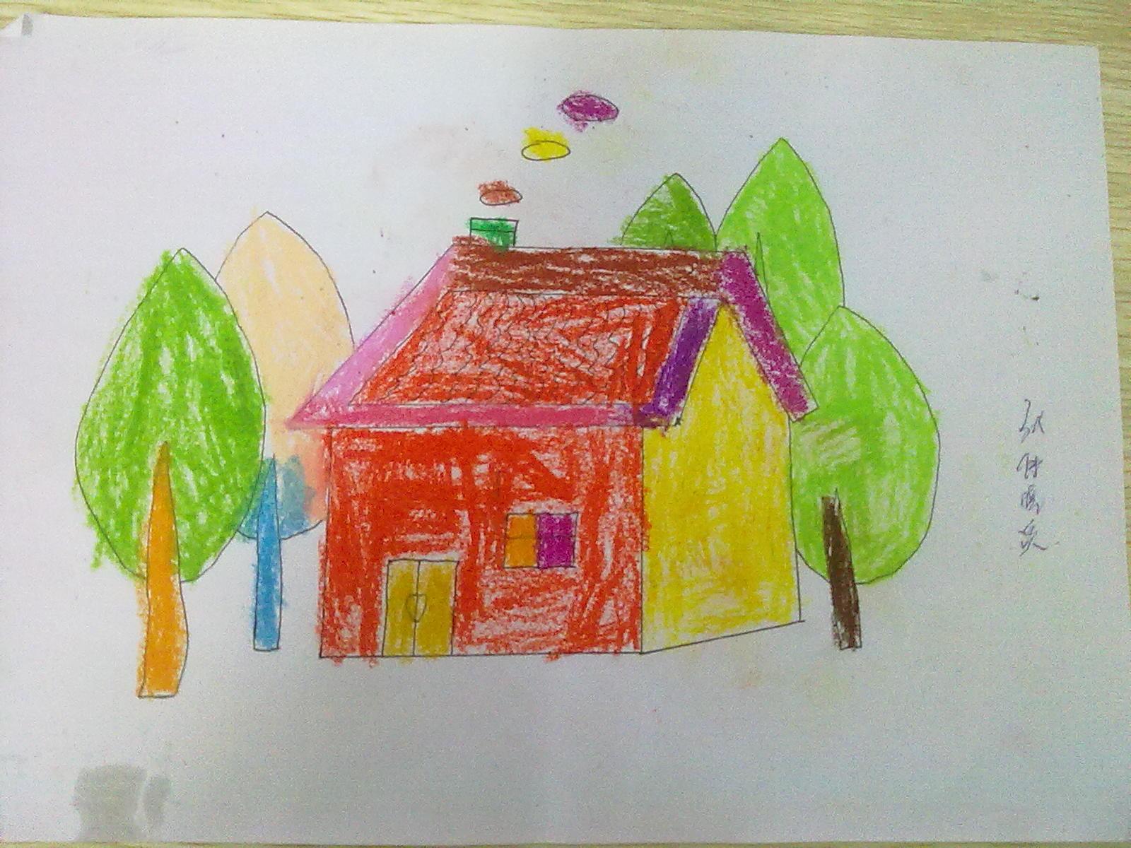 儿童简易画房子