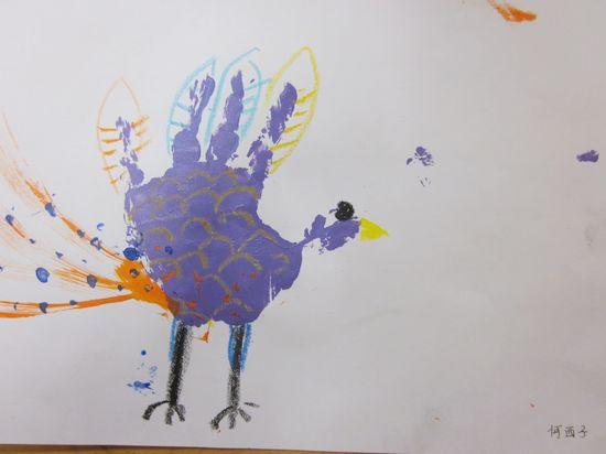 幼儿小班手掌印画动物