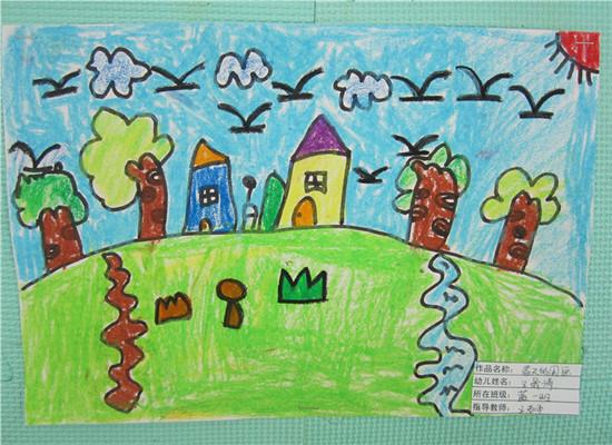 小学生画春天的图画 小学生春天的图画 小学生画春节的图高清图片