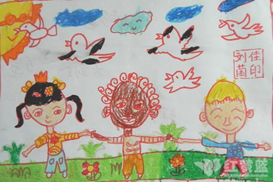 和平世界幼儿绘画
