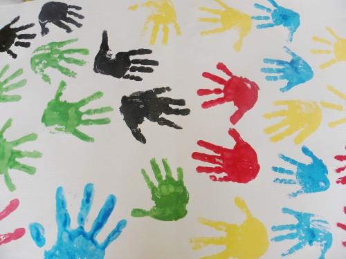 手印画 _ 红黄蓝|早教|早教中心